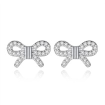 bowknot earring wh 142
