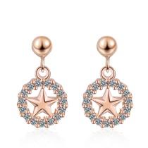 Round Star Earrings 530