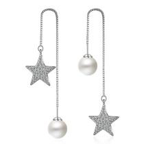 star pearl long earring 228