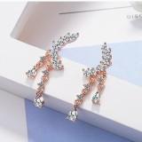 flower earring XZE476a