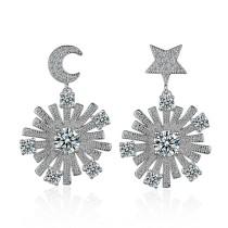 Snowflake earrings 478