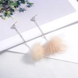 Hair ball earrings XZE003e