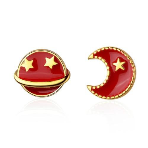 star moon earring 607