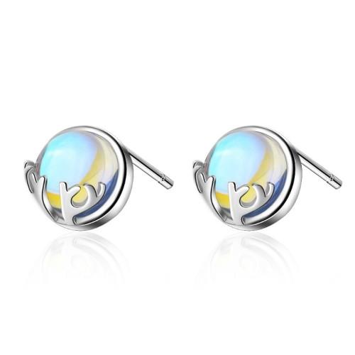Elk round earrings 674