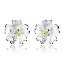 flower earring wh 36