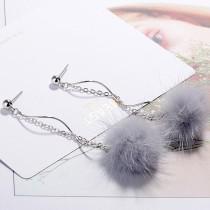 Plush earrings XZE009f