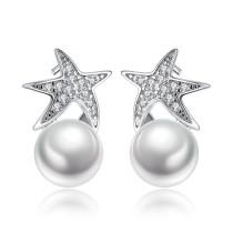 star pearl earring wh 92