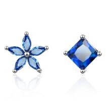 Flower asymmetric earrings 590