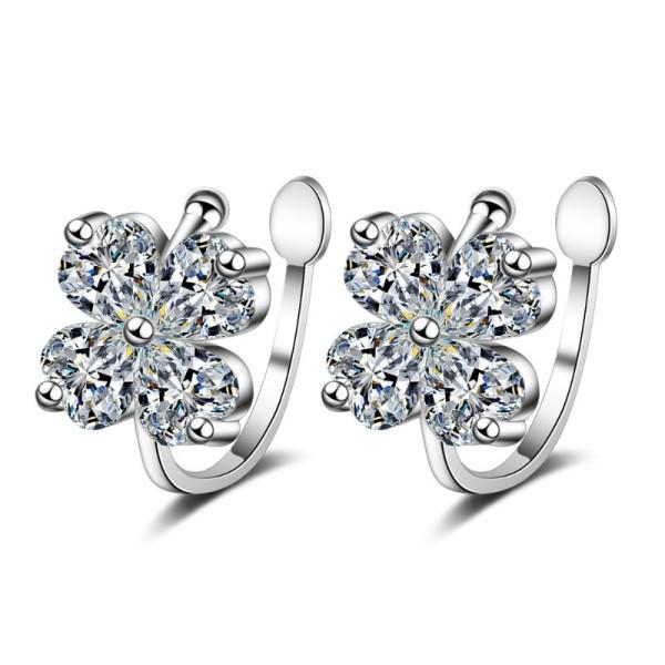 Four-leaf flower earrings 430