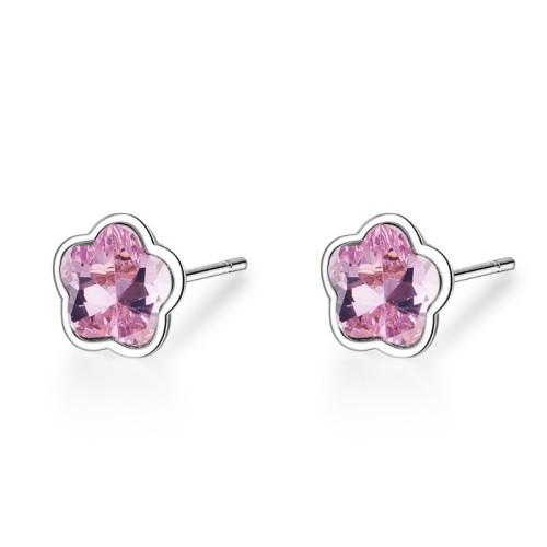 Five-petal flower earrings XZE603b