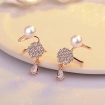 pearl snowflake earrings XZE395a