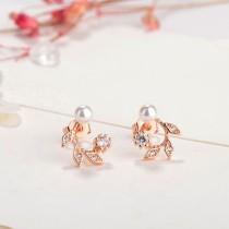 Leaves pearl earrings XZE407a