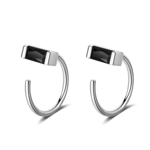 Square diamond earrings XZE369-1