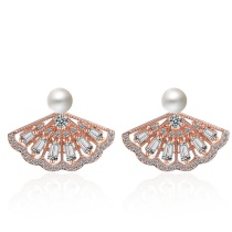 Pearl fan earrings XZE528