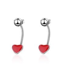 Red love earrings 537