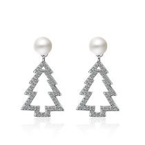 Christmas tree pearl earrings XZE490