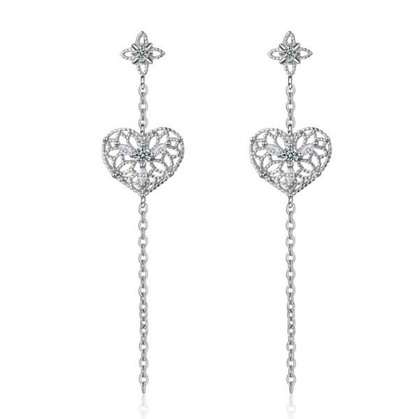 long heart earring XZE691