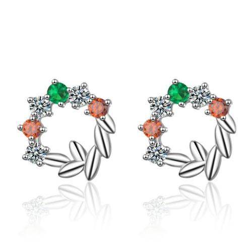 Leaf wreath earrings XZE773