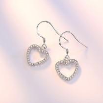 heart earrings wh 34