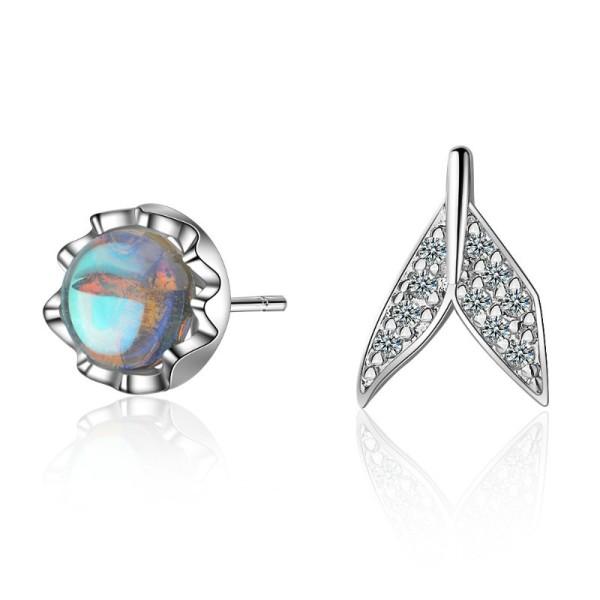 Asymmetrical fishtail earrings 767