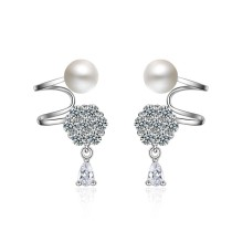 pearl snowflake earrings XZE395