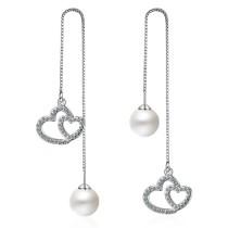 heart long pearl earring 241