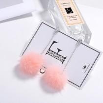 Hair ball earrings XZE003d