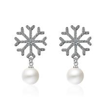 Snowflake Pearl Earrings 532