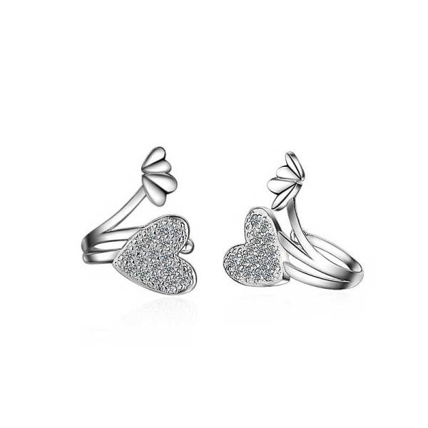 heart Ear clip XZE211w