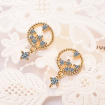 Circle thread earrings XZE552a