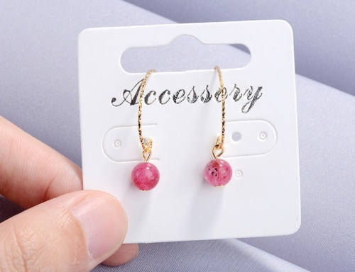 Pink earrings XZE292b