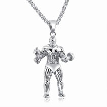 Fitness dumbbell necklace gb06171255