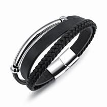 Multi-layer leather bangle(20cm) gb06171210k