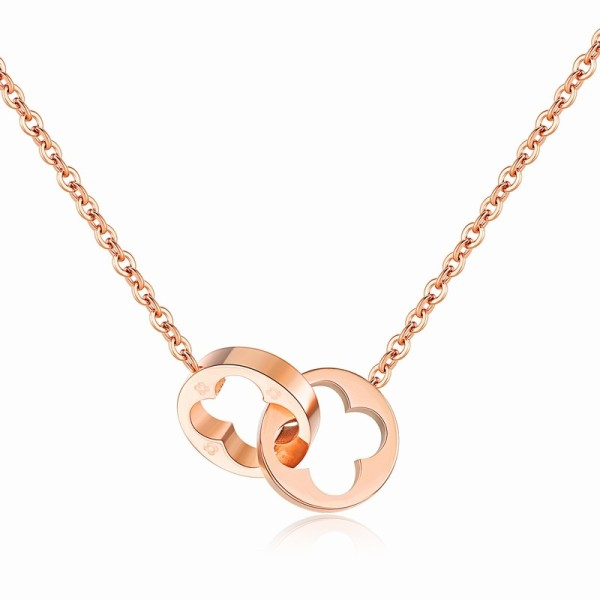 Double Ring Clover Necklace gb06171264