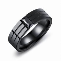 Black zircon ring 563