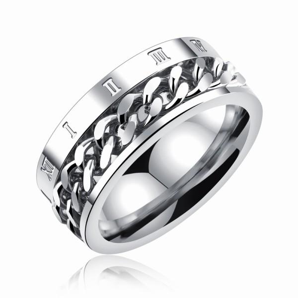 Roman numerals rotating chain rings gb0617570