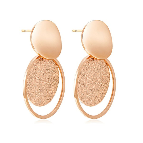 Geometric round earrings gb0619509