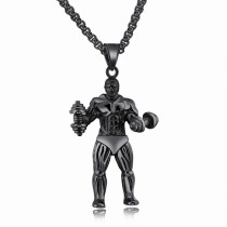 Fitness dumbbell necklace gb06171255a