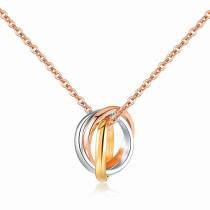 Tricyclic tricolor necklace gb06171265