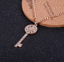 Titanium steel key sweater chain