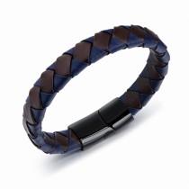 Checkered leather bangle gb06171170w