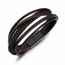 Multi-layer leather bangle gb06171094j