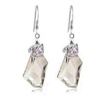 silver    earring 1140812(18mm)