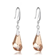 silver crystal earring070118