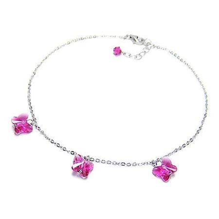 silver crystal Anklets09192