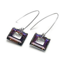 made with      crystal earrings 980168