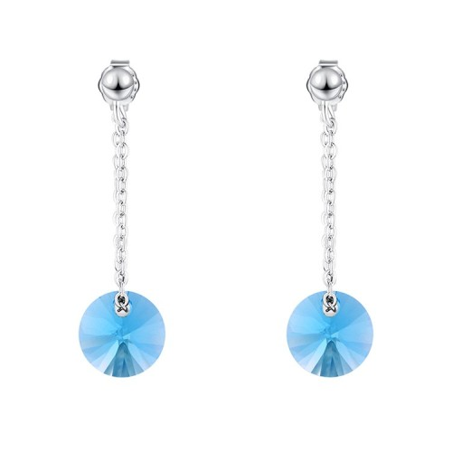 round silver earring 30573