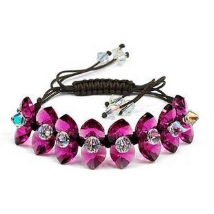 silver Austrias crystal bracelet12040703