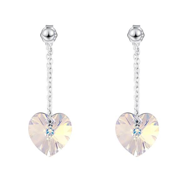 heart silver earring 30575