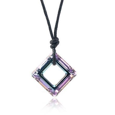 silver Austrias crystal necklace062019